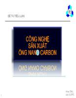Công nghệ sản xuất sợi Nano Cacbon