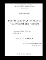 Đề xuất chiến lược hội nhập kế toán quốc tế cho Việt Nam