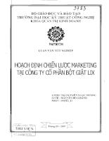 Hoạch định chiến lược Marketing tại công ty cổ phần bột giặt LIX.pdf
