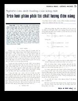 Nghiên cứu ảnh hưởng của sóng hài trên lưới phân phối tới chất lượng điện năng