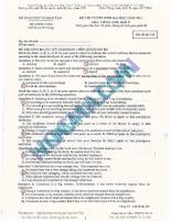 Đề thi thử đại học môn tiếng anh - đề 10