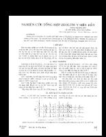 Nghiên cứu tổng hợp Zeolite Y siêu bền