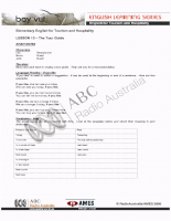 English for Tourism and Hospitality 13