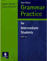 grammar practice for intermediate students walker elsworth longman