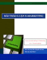 E-Marketing của một doanh nghiệp thương mại điện tử - Aha.vn