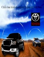 Phân tích chiến lược kinh doanh của công ty đa quốc gia TOYOTA tại Việt Nam Slide