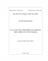 Xử lý anten mảng theo không gian-thời gian trong thông tin vô tuyến di động