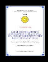 Lập kế hoạch marketing cho sản phẩm cá tra cá basa của công ty cổ phần xuất nhập khẩu thủy sản an giang