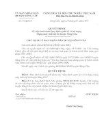 Quyết định Về việc ban hành Quy định quản lý và sử dụng mạng máy tính nội bộ huyện Sông cầu