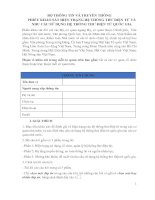 Phiếu khảo sát hiện trạng hệ thống thư điện tử và nhu cầu sử dụng hệ thống thư điện tử quốc gia