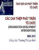 OCD-Bai 5-Can thiep Phat trien to chuc-Dr Lan Anh