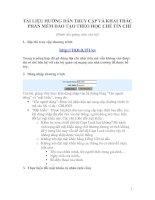 Tài liệu hướng dẫn truy cập và khai thác phần mềm đào tạo theo học chế tín chỉ