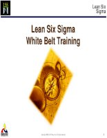 Lean Six-Sigma Overview White Belt Training