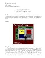bài tập Kỹ năng quản tri _ Xuan Thang