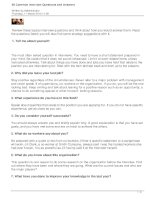 50-common interview questions and answers