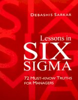 lessons in six sigma