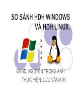 So sánh hệ điều hành windows và linux