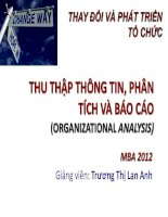 OCD-Bai 4-Thu thap thong tin va phan tich-Dr Lan Anh