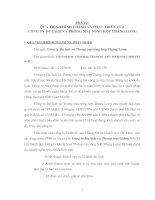 Báo cáo tổng hợp về quá trình hình thành và phát triển của Công ty du lịch và thương mại tổng hợp thăng long thực trạng và giải pháp nhằm nâng cao sức cạnh tranh sản phẩm nông sản của Việt Nam vào thị trường mỹ