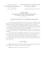 Quyết định Ban hành quy chế hoạt động của Trang thông tin điện tử  sở tài nguyên và môi trường tỉnh hòa bình