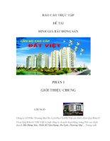 Định giá bất động sản tại Công ty cổ phần thương mại du lịch địa ốc Đất Việt