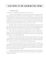 Báo cáo thực tập tại Công ty du lịch Quảng Ninh