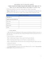 Phiếu khảo sát hiện trạng hệ thống thư điện tử và nhu cầu sử dụng hệ thống thư điện tử quốc gia (2)