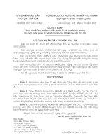 Quyết định Ban hành Quy định về việc quản lý và vận hành mạng tin học hóa quản lí hành chính của UBND huyện trà ôn