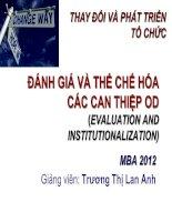 OCD-Bai 8-Danh gia va the che hoa-Dr Lan Anh