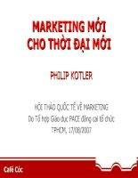 Tài liệu MARKETING MỚI CHO THỜI ĐẠI MỚI PHILIP KOTLER ppt