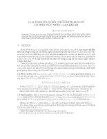 Luật mạnh số lớn đối với tổng có trong số các biến ngẫu nhiên   liên kết âm