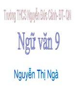 Bài soạn Tiết 85: HDĐT: Những đúa trẻ GV: Nguyễn Thị Ngà - Trường THCS Nguyễn Đức Cảnh