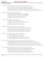 Bài giảng NGÂN HÀNG TRẮC NGHIỆM AV 12