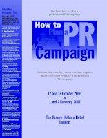 Tài liệu How to Plan a PR Campaign docx