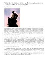 """Gián án Về bài viết """"Lời bình của thi hào Nguyễn Du trong Hoa nguyên thi thảo"""" của PGS.TS. Nguyễn Đăng Na"""