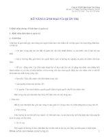 Tài liệu MỘT SỐ KỸ NĂNG QUẢN TRỊ pdf