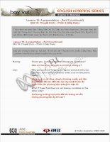Tài liệu Lesson 16: A presentation – Part 2 (continued) pdf