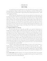 Tài liệu Giáo trình toán rời rạc - Chương 3: ĐỒ THỊ pptx