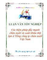 """Tài liệu Luận văn tốt nghiệp """"Các biện pháp đẩy mạnh chăn nuôi và xuất khẩu thịt lợn ở Tổng công ty chăn nuôi Việt Nam"""" pdf"""