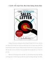 Tài liệu Cách viết một bức thư bán hàng hoàn hảo pdf