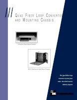 Tài liệu QUAD FIBER LOOP CONVERTER AND MOUNTING CHASSIS docx