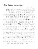 Tài liệu Bài hát bài hương ca vô tận - Trầm tử Thiêng (lời bài hát có nốt) doc