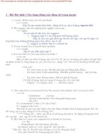 Tài liệu Các dạng bài tập chia động từ trong ngoặc pdf