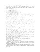 PHƯƠNG PHÁP NGHIÊN CỨU VÀ CÁC KẾT QUẢ PHÂN TÍCH THỰC TRẠNG GIẢI PHÁP ĐA DẠNG HÓA SẢN PHẨM TRONG KHÁCH SẠN CHÂU  LONG, SAPA