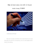 Tài liệu Một số khái niệm cần biết về thanh toán trong Thương mại điện tử ppt