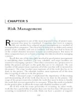 Tài liệu Project Management Professional-Chapter 5 pptx