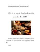 Tài liệu Giải đáp thắc mắc về bệnh đái tháo đường – Kỳ 1 docx
