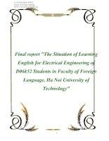 Tài liệu Final report