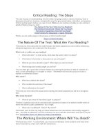 Tài liệu Critical Reading: The Steps ppt