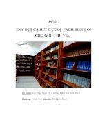 Tài liệu ÂY DỰNG NHỮNG CUỐN SÁCH BIẾT NÓI CHO GÓC THƯ VIỆN pdf